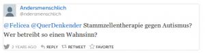 @ndersmenschlich @Felicea @QuerDenkender Stammzellentherapie gegen Autismus? Wer betreibt so einen Wahnsinn? (Tweet gelöscht)